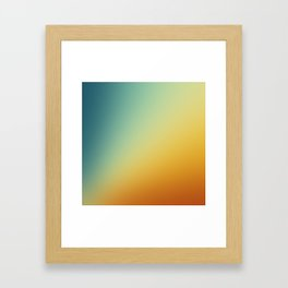 Gradient Colours: Orange Blue Framed Art Print
