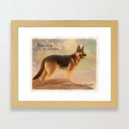 Bravery in Service Framed Art Print
