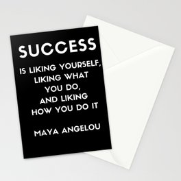 Maya Angelou SUCCESS quote Stationery Cards