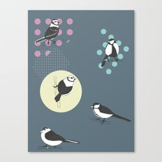 Birds And Dots Canvas Print