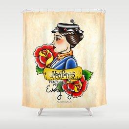 Maria Poppins Lady Head Shower Curtain