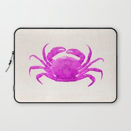 Nautical Pink Crab Linen Laptop Sleeve