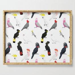 Australian cockatoos pattern Serving Tray