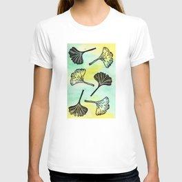 Ginkgo Biloba block print T-shirt