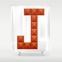 "Letter ""J"" print in beautiful design Fashion Modern Style Shower Curtain"