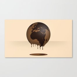 The Earth Global Chocolate Caramel Sweetness Praline Delicious Canvas Print
