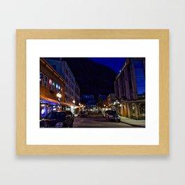 Downtown Juneau at Night Framed Art Print