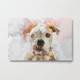 Watercolor Dog Metal Print