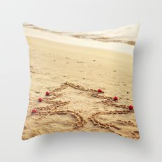 Merry Christmas! - Christmas at the beach Throw Pillow