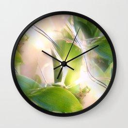 Bamboo Lights Wall Clock
