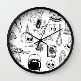 halloween flash Wall Clock