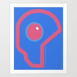 Futuristic Cyborg Logo 6 Art Print