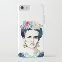 frida kahlo iPhone & iPod Cases featuring Frida Kahlo  by South Pacific Prints