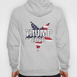 Trump 2020 Grunge USA Flag Star President Gift Hoody