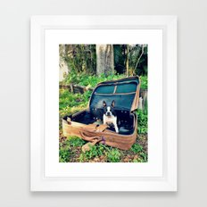 Waiting to Run Away from Home Framed Art Print