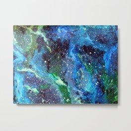 Galaxy (blue/green) Metal Print