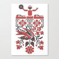 deadmau5 Canvas Prints featuring Ethno DJ by Sitchko Igor