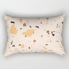 Beige color terrazzo tile Rectangular Pillow