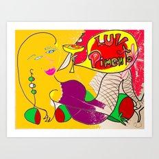 Luv Pimento 6 Art Print