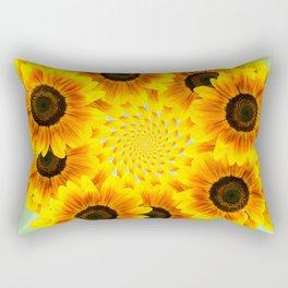 Spinning Sunflowers Rectangular Pillow
