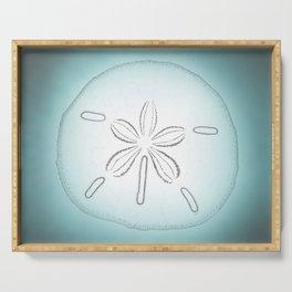 Sand Dollar Blessings - Pointilist Art Serving Tray