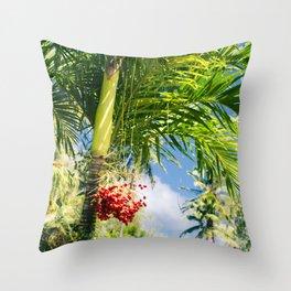 Keanae Palm Beauty Throw Pillow
