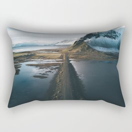 Mountain road in Iceland - Landscape Photography Rectangular Pillow