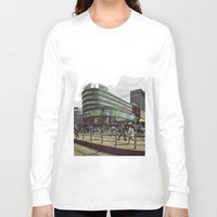 oslo Long Sleeve T-shirts featuring Modern city center of Oslo in Norway by Sunsetter Impact