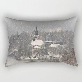 Snowy Bled Island Rectangular Pillow