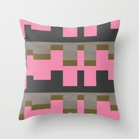 castle Throw Pillows featuring castle by Georgiana Paraschiv