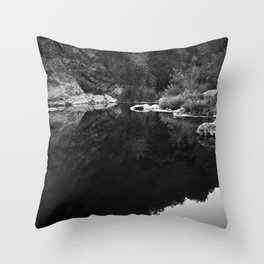 Shoreline Reflection On the Water Throw Pillow