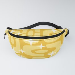 Mid Century Modern Cosmic Abstract 134 Yellow on Yellow Fanny Pack