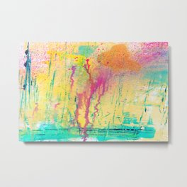 DRIPPING COLORS Metal Print