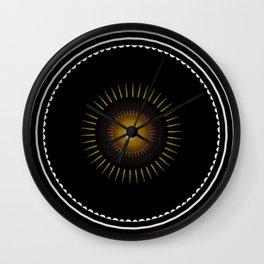 Modern Circular Abstract with Gold Mandala Wall Clock