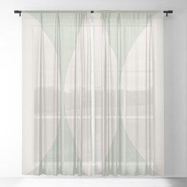 Curvature Minimalism - Pastel Green Sheer Curtain