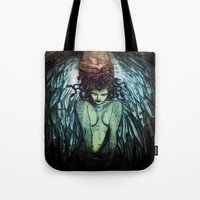 medusa Tote Bags featuring Medusa  by CLE.ArT.