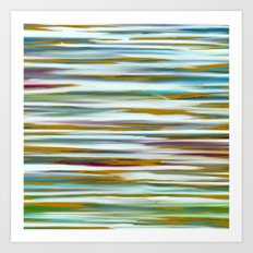 Abstract Water Reflection Art Print