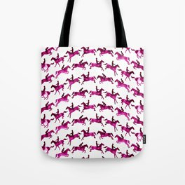 Showjumping Horse Sequence (Magenta) Tote Bag