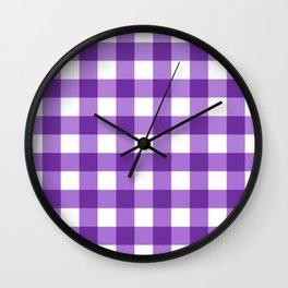 Purple Buffalo Check - more colors Wall Clock