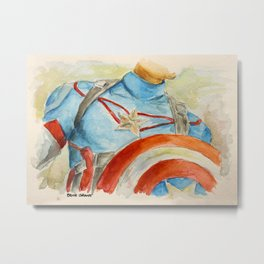 Capt America - Fictional Superhero Metal Print