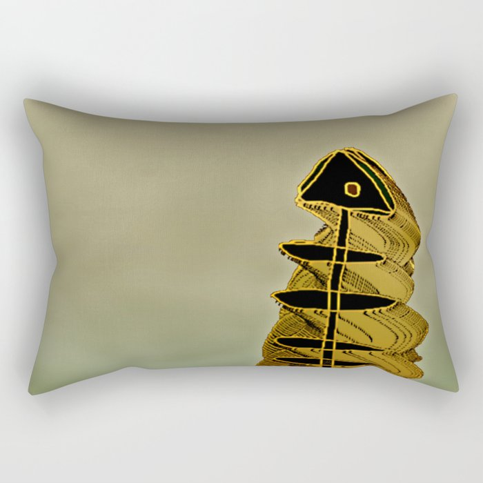 Atlante / ORANGE in BLUE Rectangular Pillow