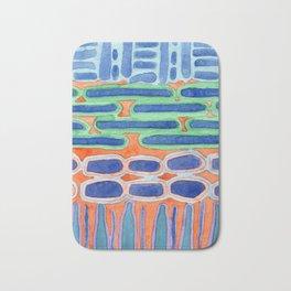Blue Shapes Pattern Bath Mat