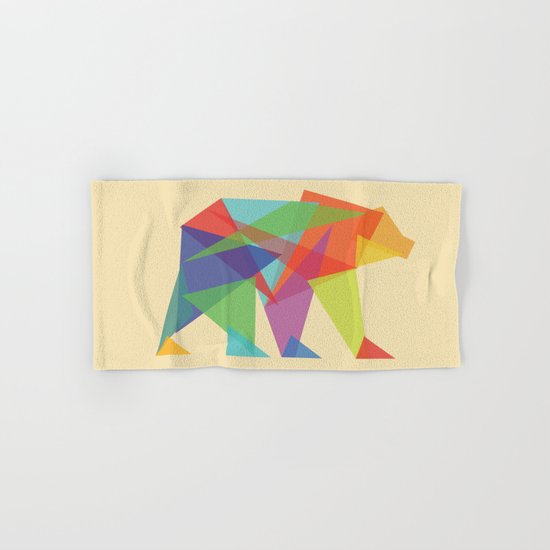 Fractal Geometric bear Hand & Bath Towel