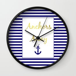 Anchors Away Wall Clock