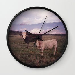 Two Cows Wall Clock