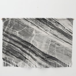 Abstract Marble - Black & Cream Wall Hanging