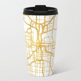 KANSAS CITY MISSOURI CITY STREET MAP ART Travel Mug