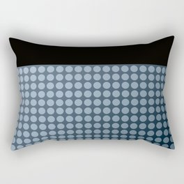 Black and blue polka dot pattern . Rectangular Pillow