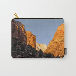 WINTER LIGHT ON ZION Carry-All Pouch