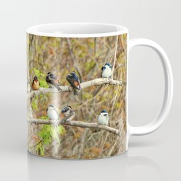 Spring Migration Fallout; 4 swallow species, 1 branch Coffee Mug